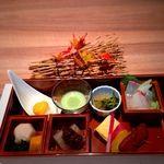 きろく - ランチ 彩り御膳の八寸(前菜)