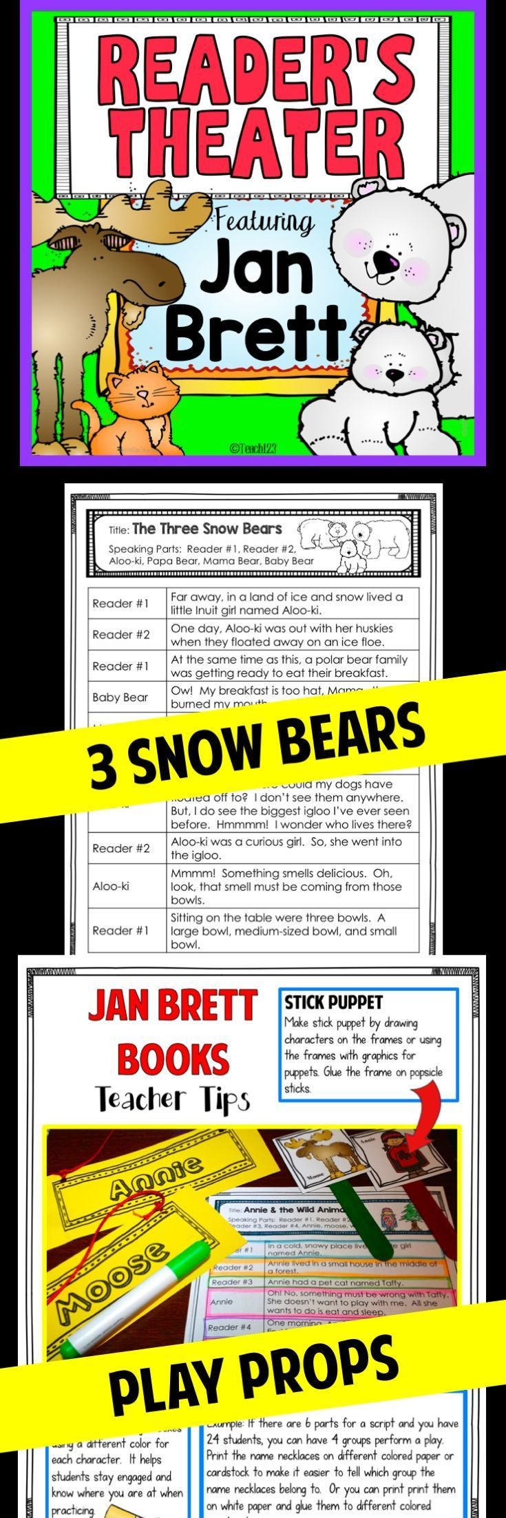Reading Fluency - Readers Theater - Jan Brett Stories: 3 Snow Bears and Annie & the Wild Animals:  My students had so much fun with these!!! We did it the last few days before Winter Break. So much fun!! paid