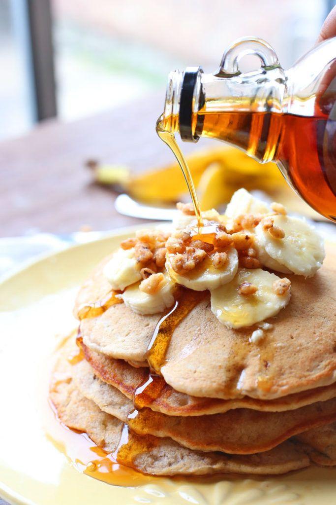 Banana Nut Pancakes Recipe | Brown Sugar