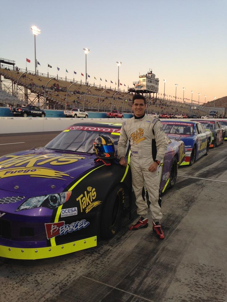 Ready!! – Irwin Vences, man behind the wheel of the Takismobile, NASCAR MEXICO TOYOTA SERIES 120, Phoenix International Raceway