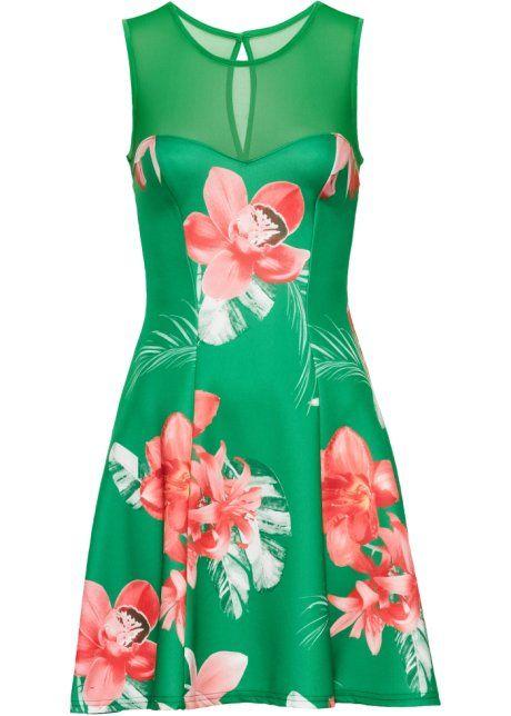 Kleid mit Blumen print, BODYFLIRT boutique, rot geblümt