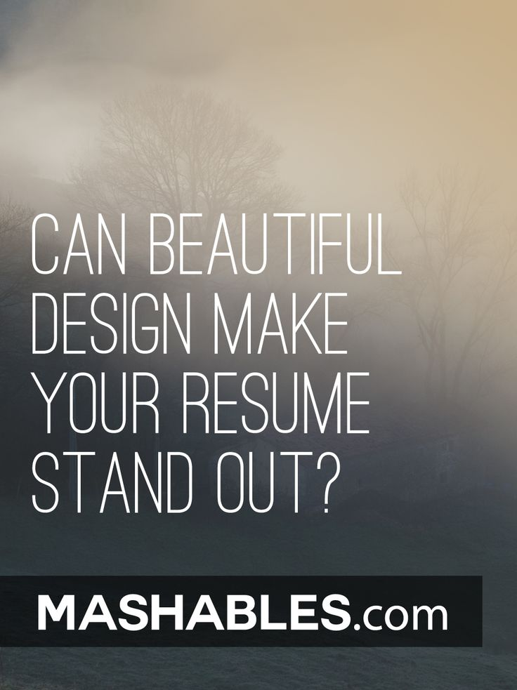 key words for resume%0A Can Beautiful Design Make Your Resume Stand Out