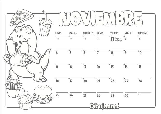 Calendario Infantil 2019 Para Imprimir Y Colorear Dibujos Net Calendario Infantil Calendario Para Ninos Calendario