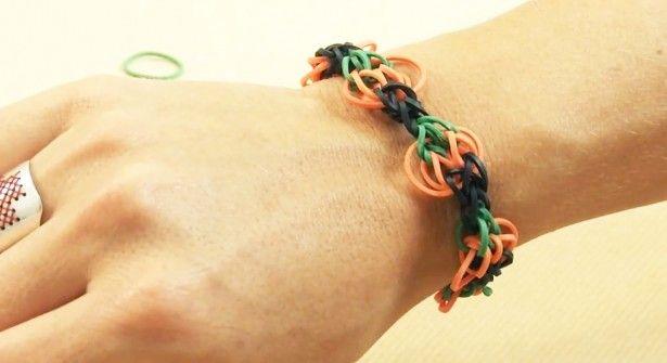 #Halloween : le #bracelet #élastiques #Rainbow #Loom #citrouille