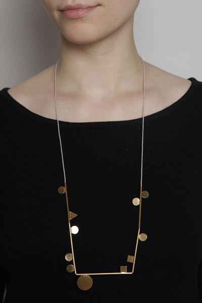 TOTOKAELO - Samma - Shapely Necklace - Brass ($200-500) - Svpply