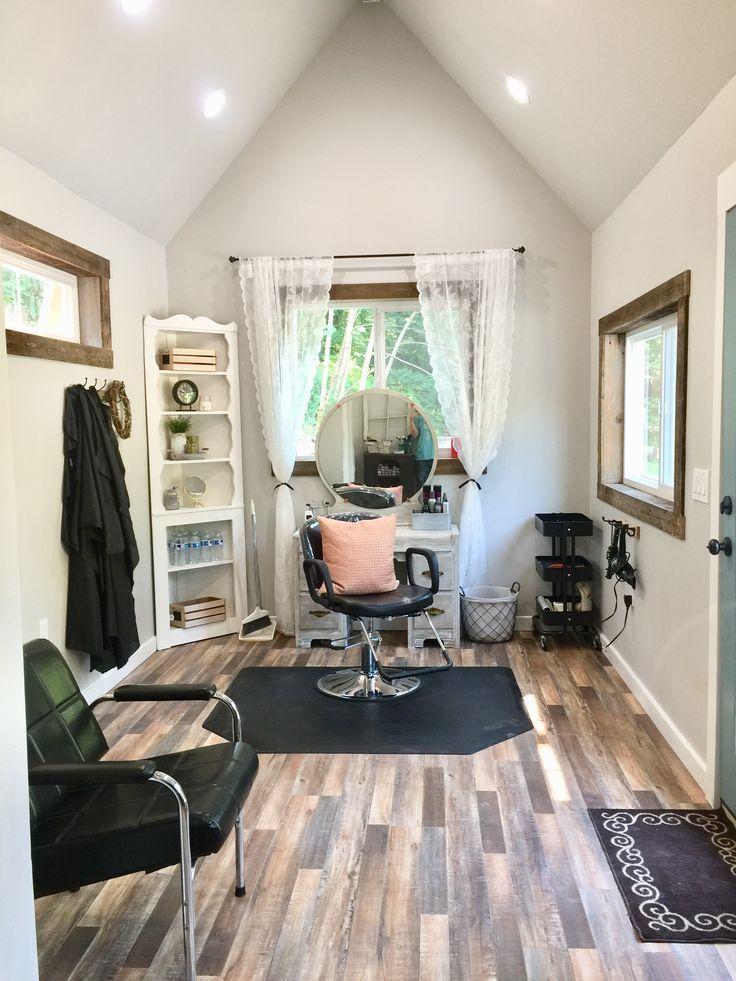 10x20 Shed Made Into A Salon Farm House Salon Salon