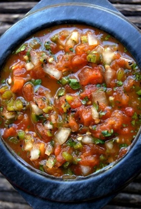 Roasted Tomato Poblano Salsa is so incredible because almost all of the salsa ingredients are roasted. Instead of a sprinkle of sugar (if necessary), use stevia or xylitol.
