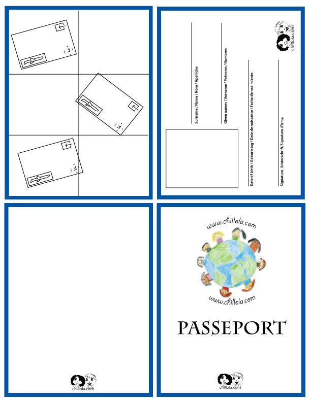 Classroom Layout Ideas Uk ~ Passport french template for kids