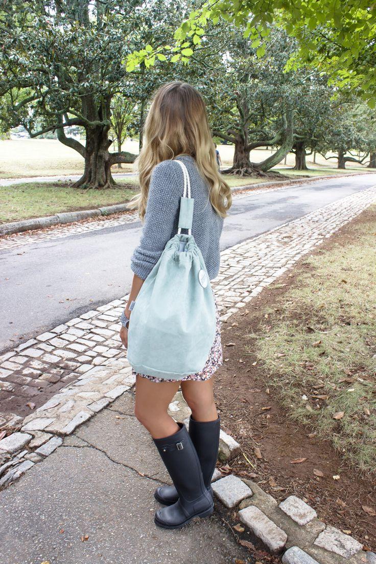 Mint suede backpack BORBA  #backpack #streetwear #accessories