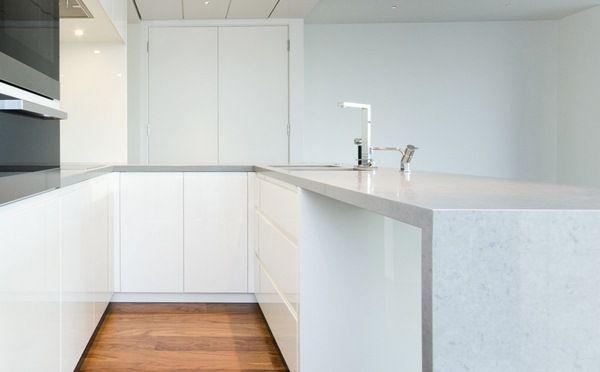 cuisine granit blanc plan de travail