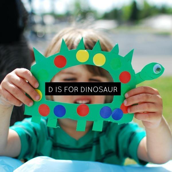 Easy preschool D is for Dinosaur craft