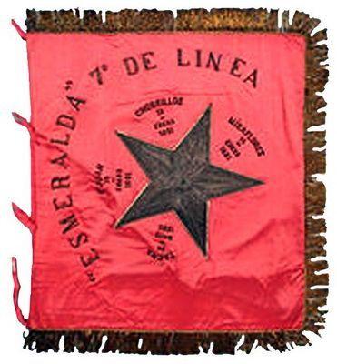 Estandarte del Regimiento Esmeralda 7° de Línea
