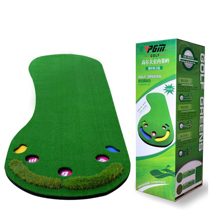 INSTOCK 2016 New Arrival Big Feet Golf Trainer Mat Artificial Grass Carpet Golf Putter Trainer Professional Practice Golf Puttin