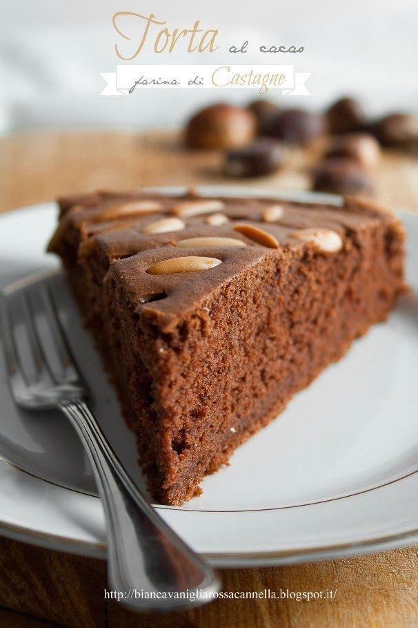 Torta al cacao con farina di Castagne  - bianca  vaniglia