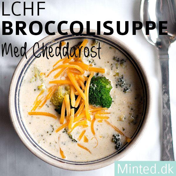 LCHF broccolisuppe med cheddarost