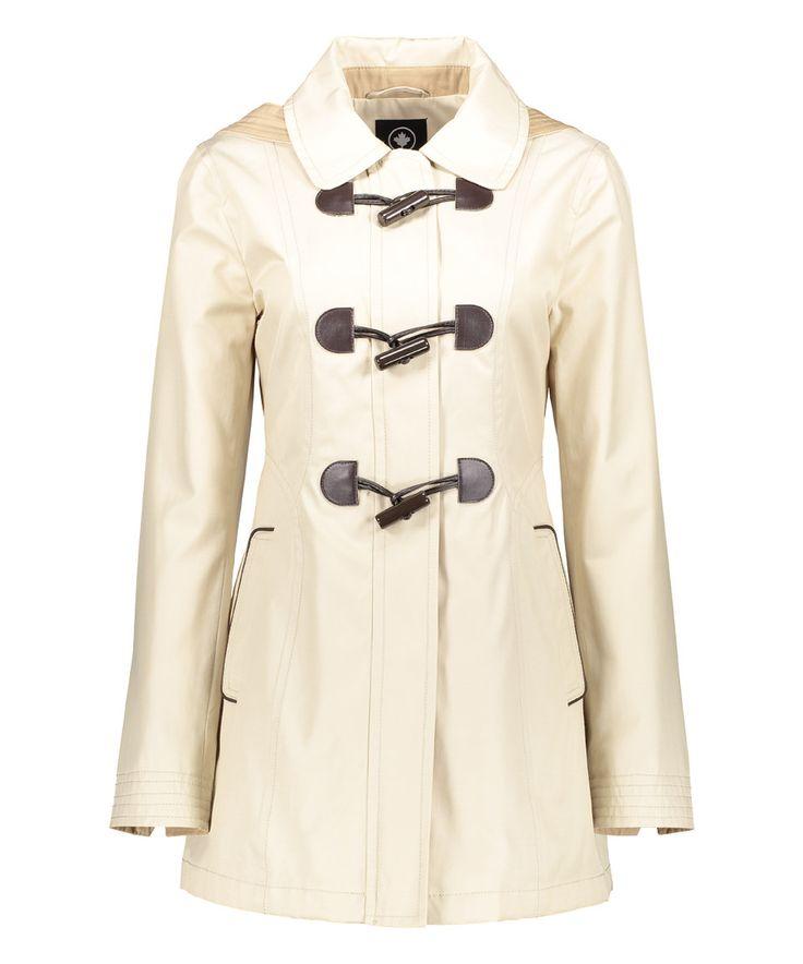 Love this Halifax Traders Beige Zip-Up Toggle Jacket by Halifax Traders on #zulily! #zulilyfinds