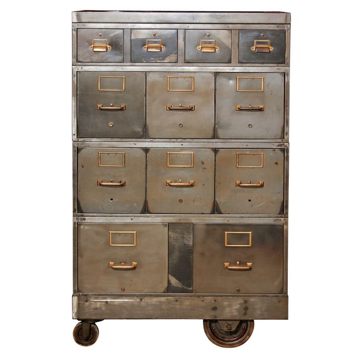 // cabinetIndustrial Furniture, Vintage Storage, File Cabinets, Industrial Chic, Modern Industrial, Steel Cabinets, Vintage Metal, Industrial Design, Cabinets Design