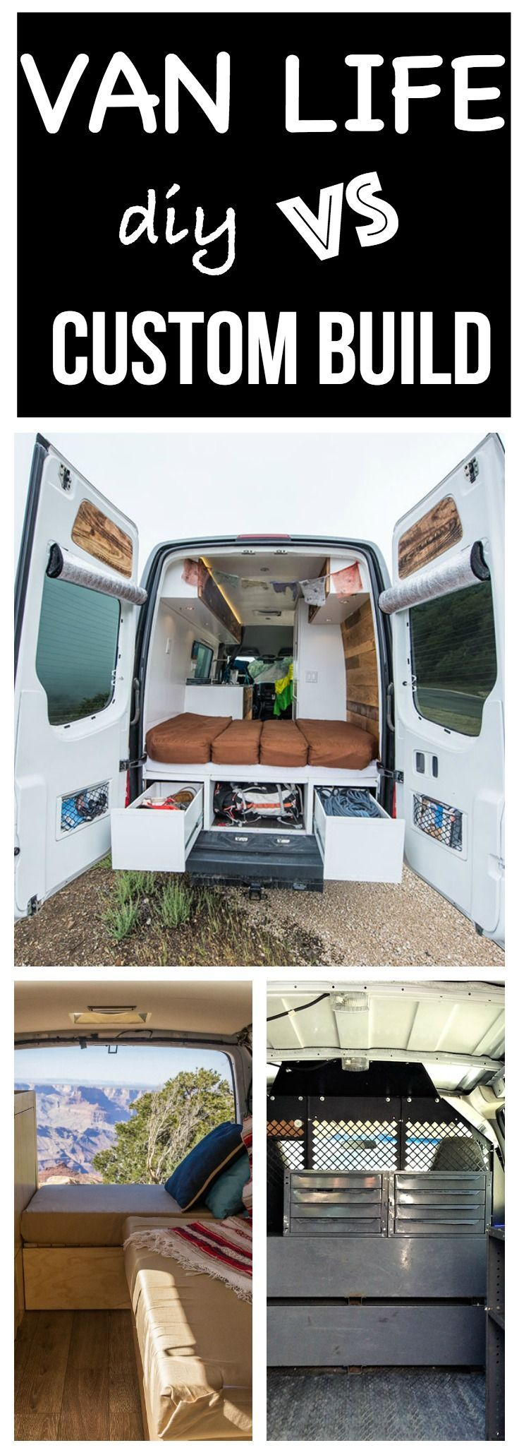 Want to get into #vanlife? Find out whether a DIY project or a custom build is best for you. #campervan #vanconversion #sprintervan #sprintercampervans #sprinter