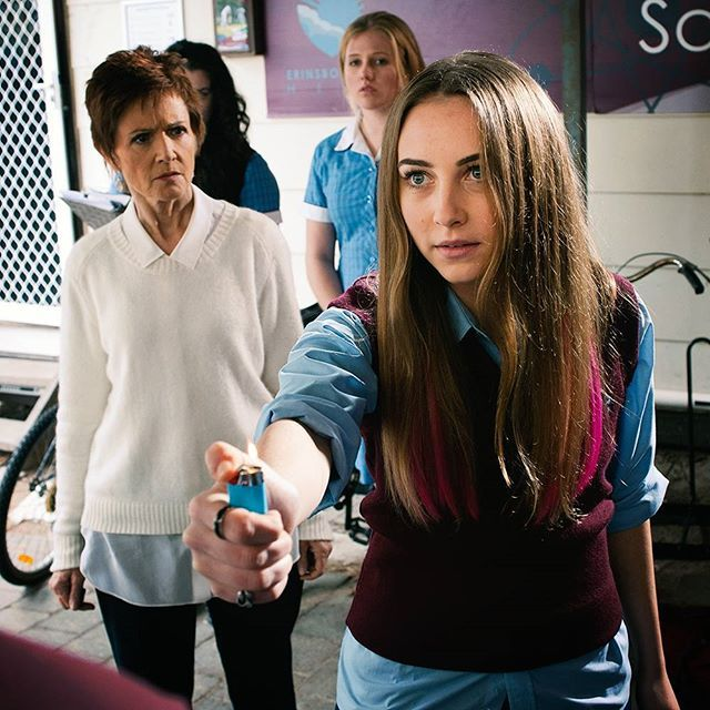 Don't play with fire Piper, remember what happened last time?! @mavournee_hazel #Neighbours