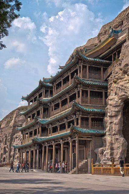 世界遺産 雲崗石窟 中国の絶景写真画像 中国