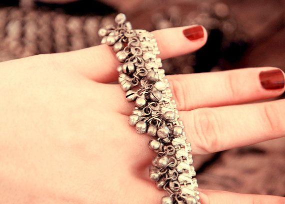 anklet bracelet old anklet silver anklet ethnic by CarmelaRosa