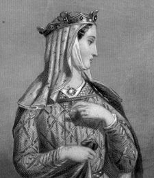 Eleanor of Aquitaine (in French: Aliénor d'Aquitaine, Éléonore de Guyenne) (1122[note 1] – 1 April 1204) was one of the wealthiest and most powerful women in Western Europe during the High Middle Ages. As well as being Duchess of Aquitaine in her own right, she was queen consort of France (1137–1152) and of England (1154–1189). Eleanor of Aquitaine is the only woman to have been queen of both France and England.