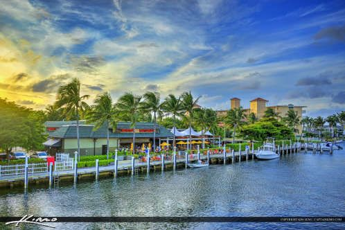 Restaurant at Waterway in Pompano Beach Florida