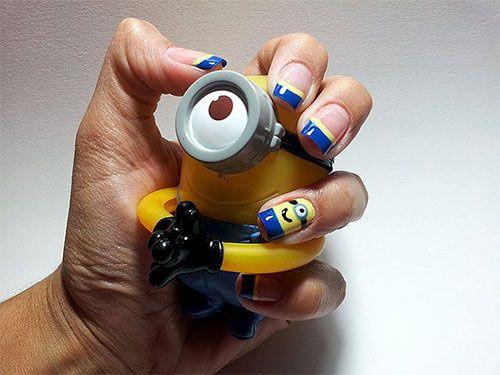 Minions Nail Art Ideas, Designs & Stickers 2013/ 2014 | Despicable Me 2 Nails