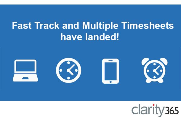 Check out our new fast track and multiple timesheets making your timesheet submissions easier than ever! #software #timesheets #cloud #easy