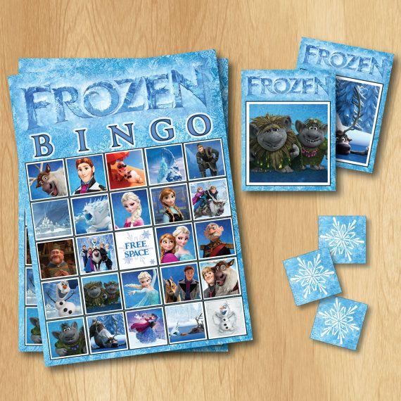 Frozen Bingo Game  INSTANT DOWNLOAD Frozen Game  by PrintMeParties, $4.99