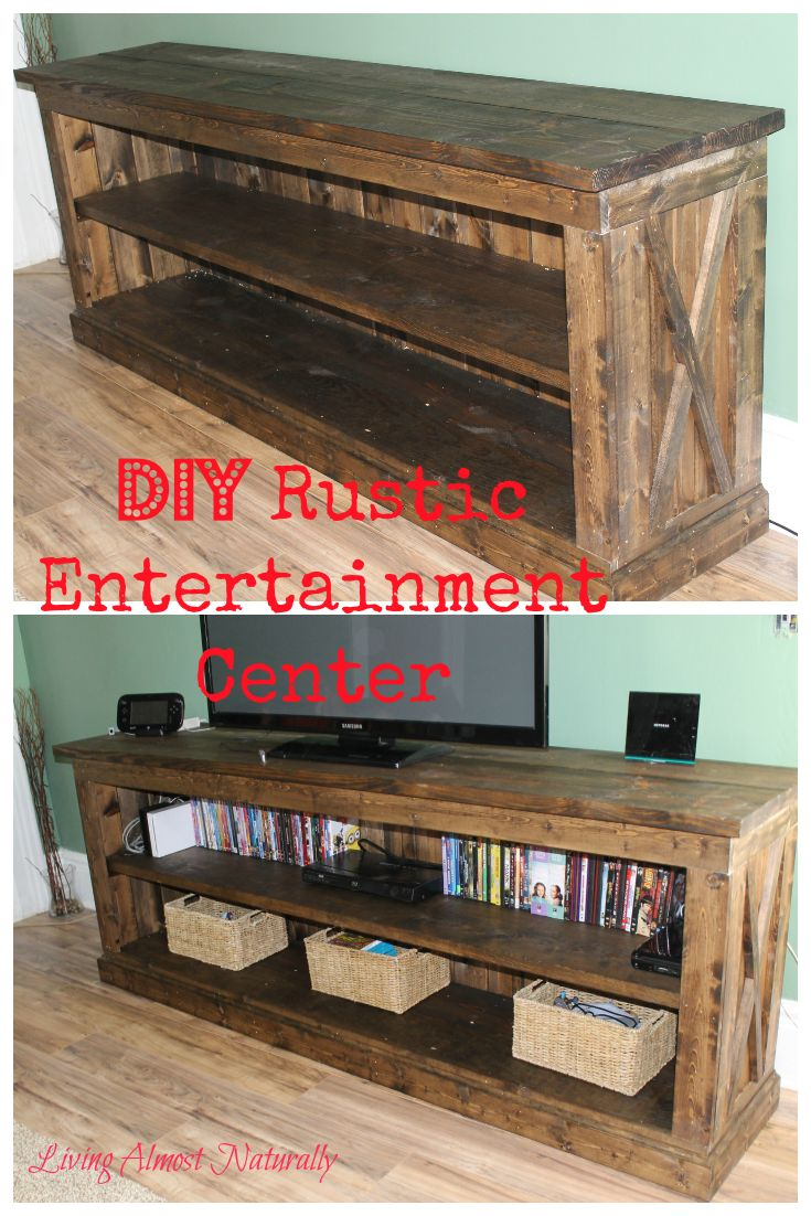 DIY Rustic Entertainment Center. Easy to make