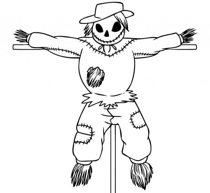 Free Printable Scarecrow Coloring Pages For Kids   Cute ...