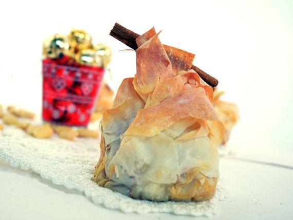 Cestini di pasta filo, mele, mandorle e cannella - Eleganti, belli, ma soprattutto buoni!!! #RicetteNatalizie