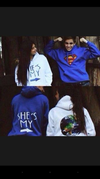 sweater couple sweaters jumper jacket blue white sweatshirt superman hoodie bag shirt matching couples bf gf world couple jackets couple couple boyfriend cardigan superman hoodie couple sweaters matching couples swetshirts matching set writing clothes superman blue and world couples shirts