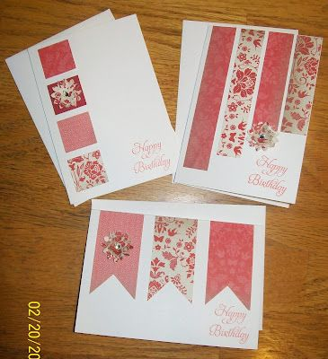 Love these quick and easy card ideas from the Crazy Stamping Lady.  :)