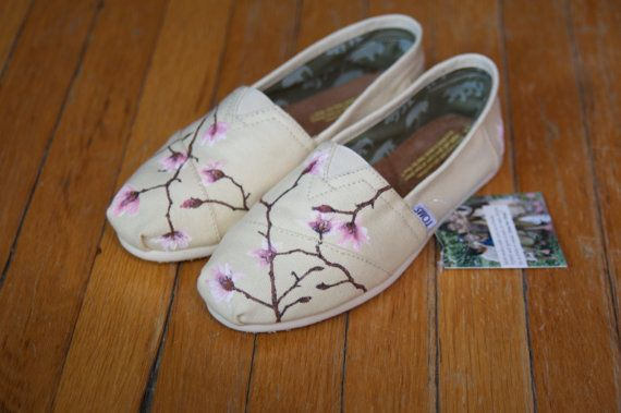 Cherry Blossoms: Shoes Ready, Cherries Blossoms, Blossoms Custom, Toms Custom, Style Toms, Shandk Style, Custom Toms, Toms Shoes, 75 Cherries