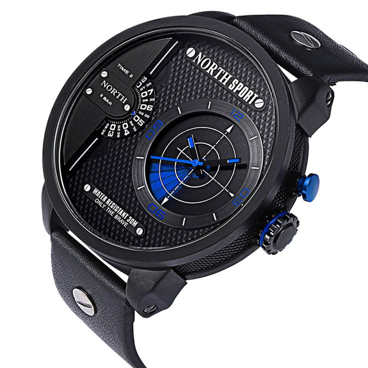 NORTH Top Brand Fashion Radar Watch Waterproof Multiple Time Zone Sport Watch Men Military Watches Quartz Watch Reloj Hombre Check it out! Visit us