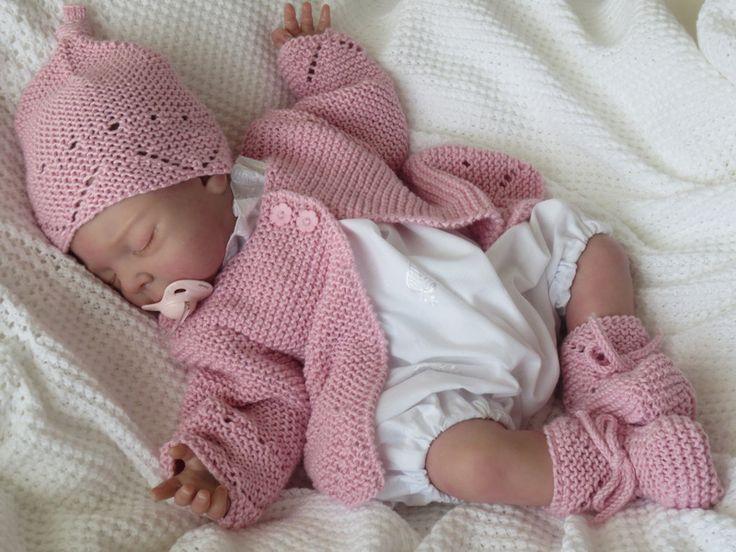 babygarnitur 3 teilig rose von babys dreams auf baby reborn outfits. Black Bedroom Furniture Sets. Home Design Ideas