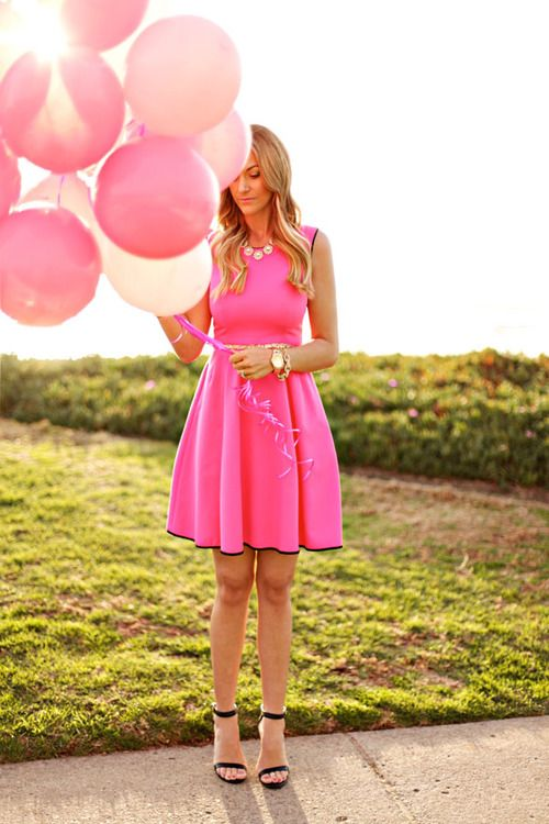 Pretty in Pink. Get it here: http://www.renttherunway.com/shop/designers/katespadenewyork_dresses/caroldress