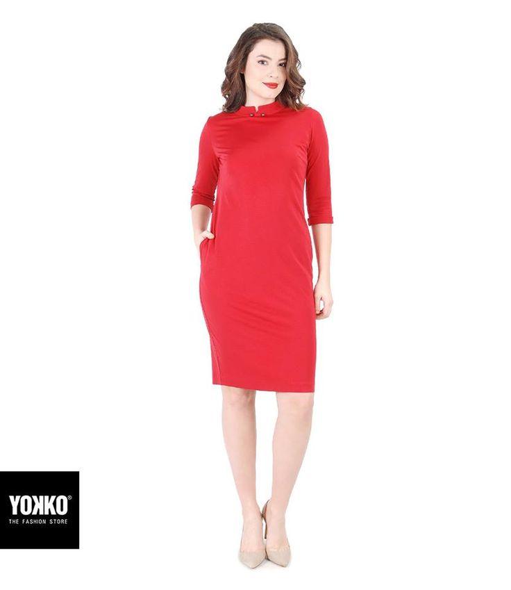 Soft, comfy & chic! #red #dress #new #chic #elegant #yokko #feminity