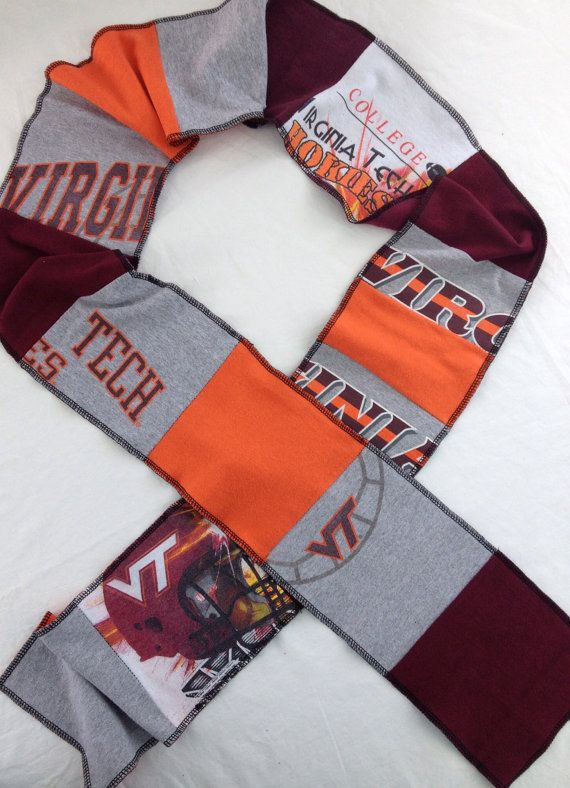 Virginia Tech Hokies upcycled unisex tshirt scarf by ginsnappity, $40.00