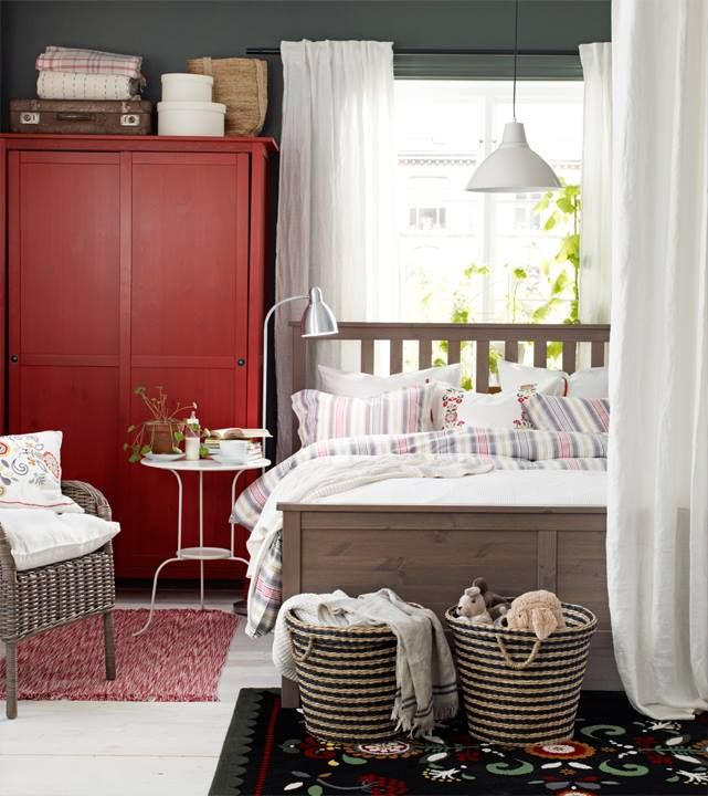 Ikea 2010 Bedroom Design Examples: Ikea Hemnes Collection, Those Baskets