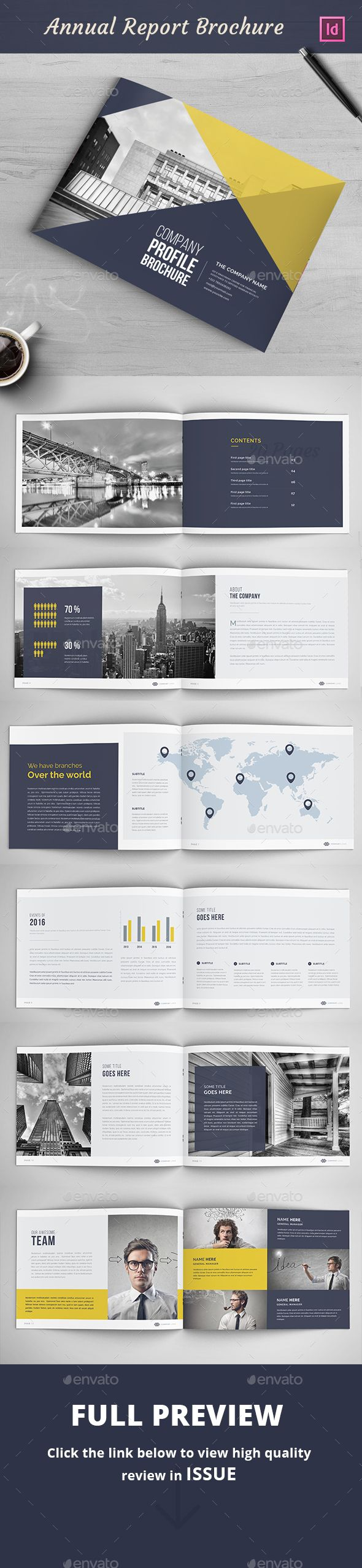 Annual Report Brochure Template InDesign INDD. Download here: http://graphicriver.net/item/annual-report-brochure/16669837?ref=ksioks