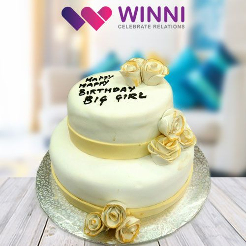 Infuse sweetness in your loved ones life by celebrating their birthday with this 2 tier #cake. It's luscious taste will drive the taste buds of everyone go crazy and sure to make the birthday celebration exhilarating. Order this delicious cake from #Winni!