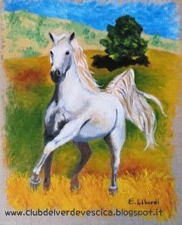 {#horse #painting #art #oiloncanvas} club del verde vescica                                       : Dipingere UN CAVALLO BIANCO
