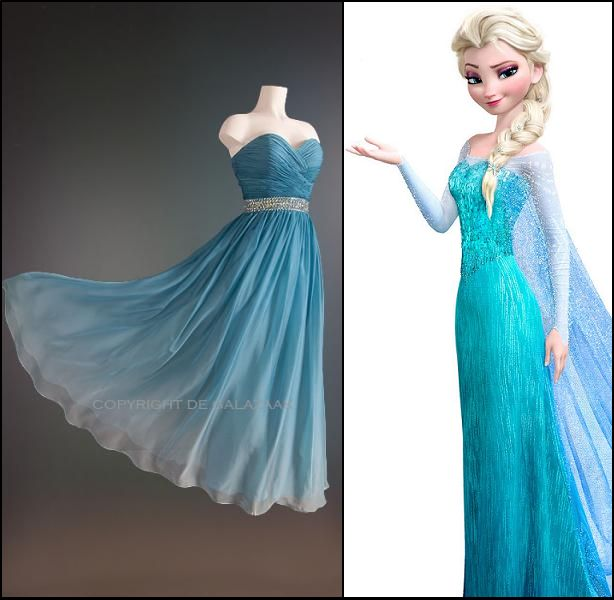 Got to love deze Frozen jurk! http://www.degalazaak.nl/galajurken/ijsblauwe-jurk-met-ombre-kleureffect-3089.html