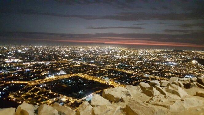 Lima nocturna. Desde cerro San cristobal