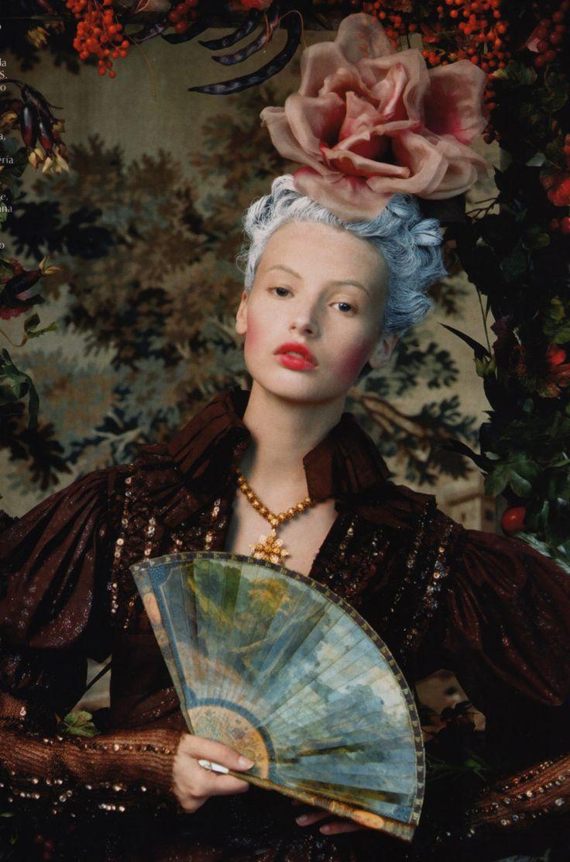 """Portrait Of A Lady""  Model: Mona Johanneson  Photographer: Juan Gotti  Magazine: Vogue Espana October 2006"