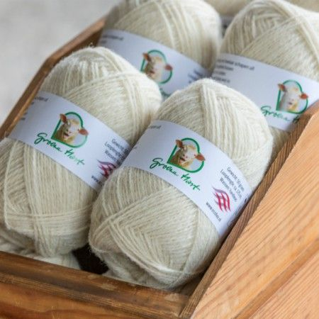 Groene Hart schapenwol roomwit