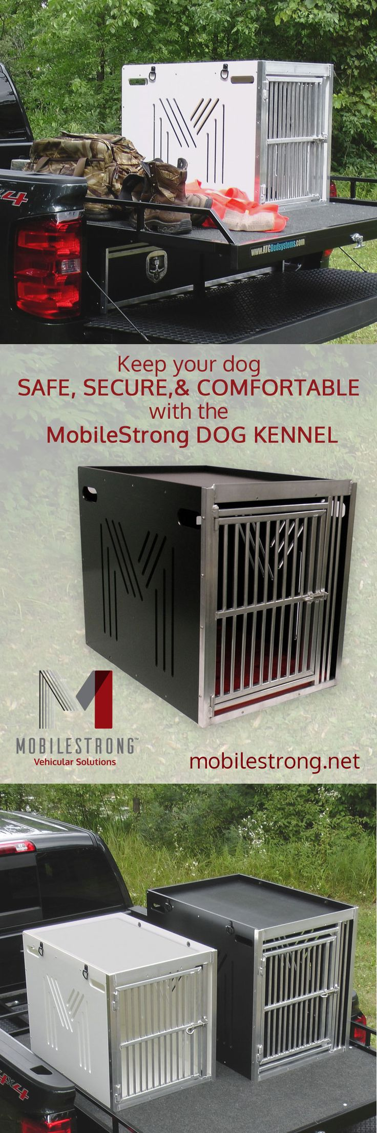 New Heavy Duty Dog Kennel by #mobilestrong keeps your dog Safe, Secure & Comfortable!